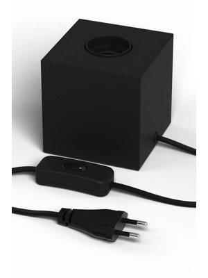Calex Tafellamp Vierkant Blok Zwart