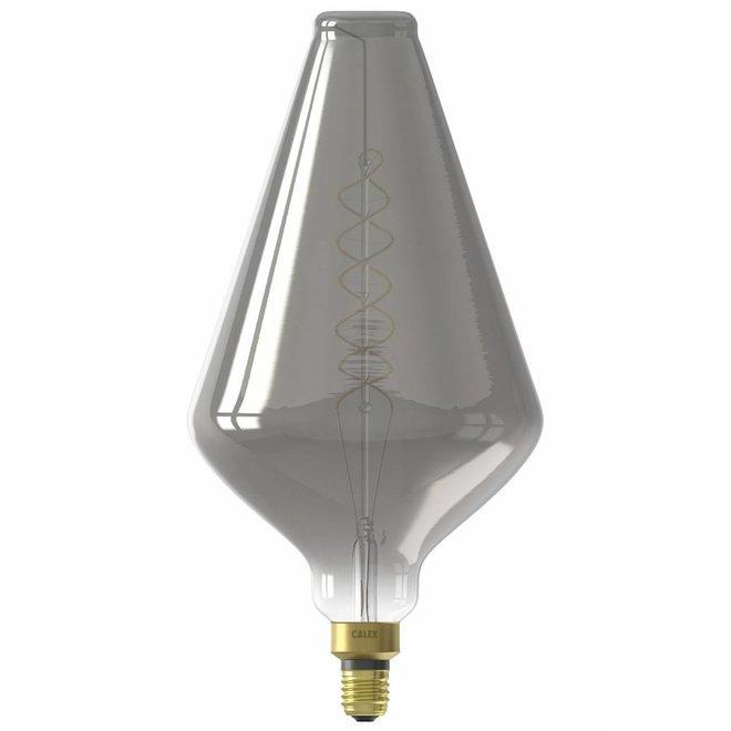 Calex XXL Vienna LED Lamp 240V 6W 80lm E27 VA188, Titanium 2200K dimmable, energy label B
