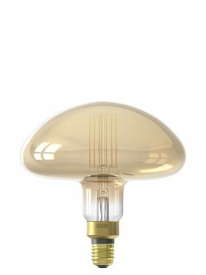 Calex Calex XXL Calgary LED Lamp 240V 6W 600lm E27 MS195, Gold 2200K dimmable, energy label A+