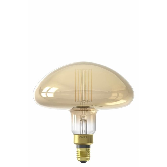 Calex XXL Calgary LED Lamp 240V 6W 600lm E27 MS195, Gold 2200K dimmable, energy label A+