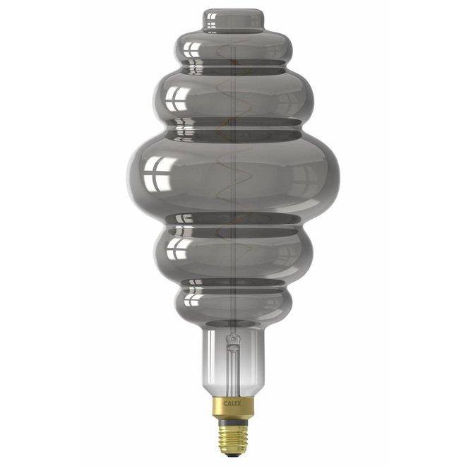 Calex XXL Paris LED Lamp 240V 6W 100lm E27 LS200, Titanium 2200K dimmable, energy label B