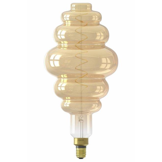 Calex XXL Paris LED Lamp 240V 6W 350lm E27 LS200, Gold 2200K dimmable, energy label A