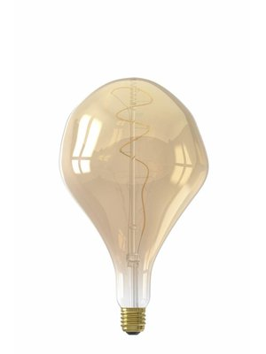 Calex Calex XXL Organic LED Lamp 240V 6W 300lm E27 PS165, Gold 2200K dimmable, energy label A