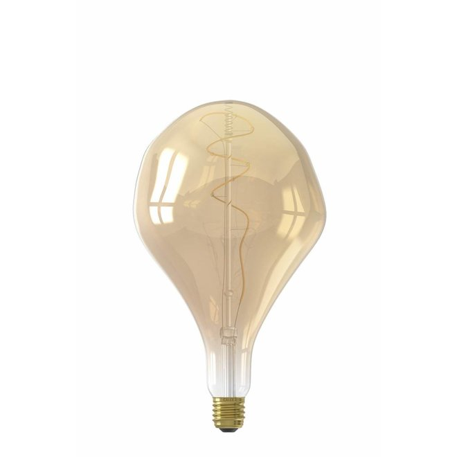 Calex XXL Organic LED Lamp 240V 6W 300lm E27 PS165, Gold 2200K dimmable, energy label A