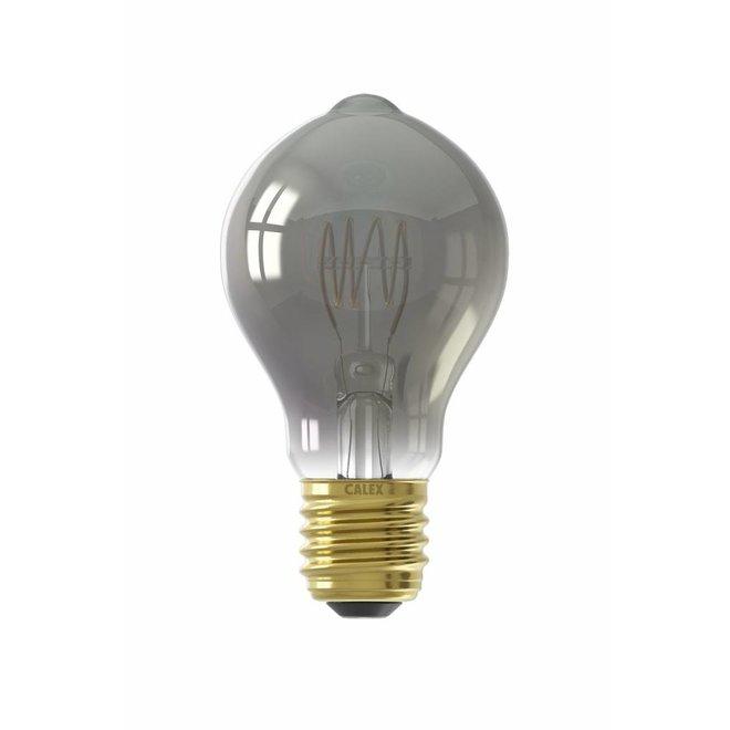 Calex LED Full Glass Flex Filament GLS-lamp 240V 4W 100lm E27 A60DR, Titanium 2100K Dimmable, energy label B