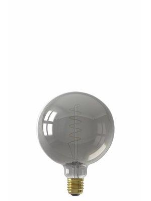 Calex Calex LED Full Glass Flex Filament Globe Lamp 240V 4W 100lm E27 G125, Titanium 2100K Dimmable, energy label B