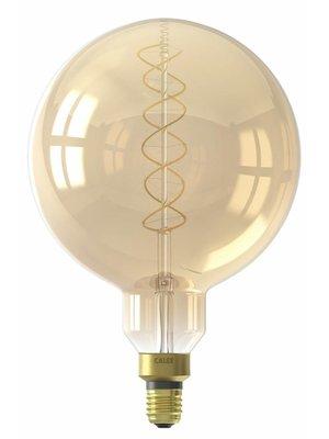 Calex Calex LED Full Glass Flex Filament MegaGlobe 240V 4W E27 G200, Gold 2100K Dimmable, energy label A