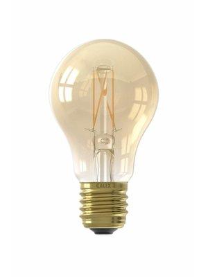 Calex Calex LED Full Glass Filament GLS-lamp 240V 4W 310lm E27 A60, Gold 2100K CRI80 Dimmable, energy label A+