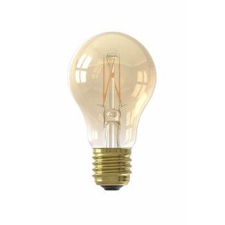 Calex Holland Calex LED Full Glass Filament GLS-lamp 240V 4W 310lm E27 A60, Gold 2100K CRI80 Dimmable, energy label A+