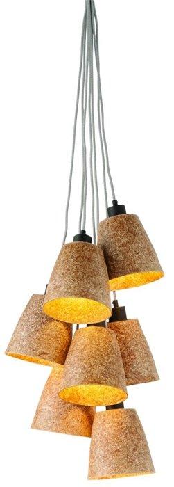 GOOD&MOJO Hanglamp hout chips Sequoia/7-shade, naturel