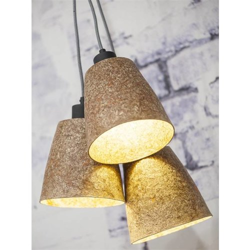 GOOD&MOJO Hanglamp hout chips Sequoia/3-shade, naturel