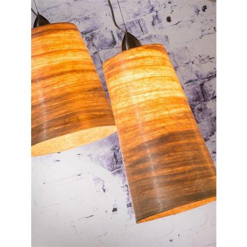 GOOD&MOJO Hanglamp Sahara abaca, double shades naturel, M