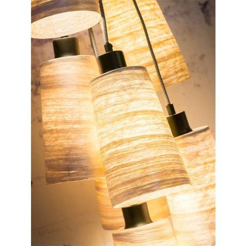 GOOD&MOJO Hanglamp Sahara abaca, 7-shades naturel, S