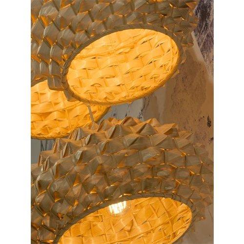 GOOD&MOJO Hanglamp bamboo Sagano flat, naturel