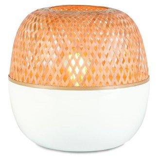 GOOD&MOJO Tafellamp bamboo Mekong, wit/naturel, S