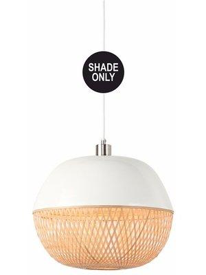 GOOD&MOJO Shade Hanglamp bamboo Mekong rond, wit/naturel