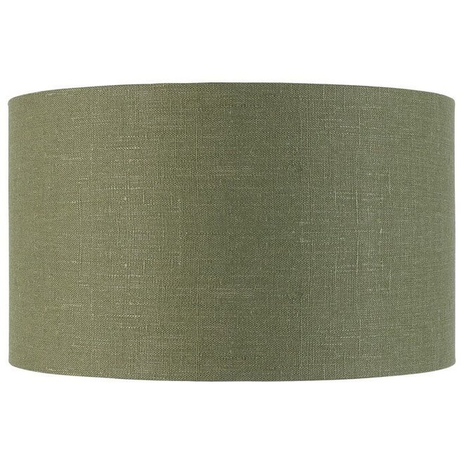 Shade hanging/table/Vloerlamp eco linen, green forest