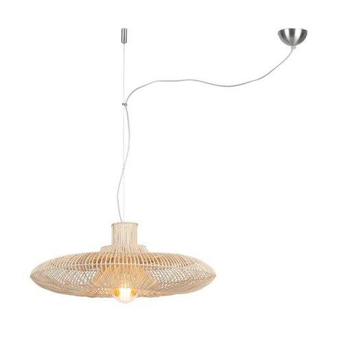 GOOD&MOJO Hanglamp Kalahari rattan, single shade naturel, L