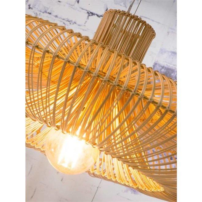 Hanglamp Kalahari rattan, single shade naturel, L