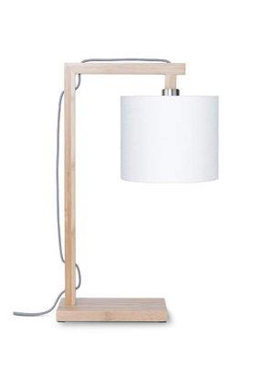 GOOD&MOJO Tafellamp Himalaya bamboo, wit
