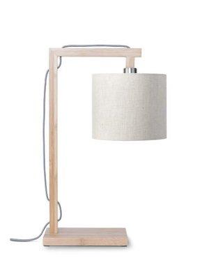 GOOD&MOJO Tafellamp Himalaya bamboo, eco linen, licht