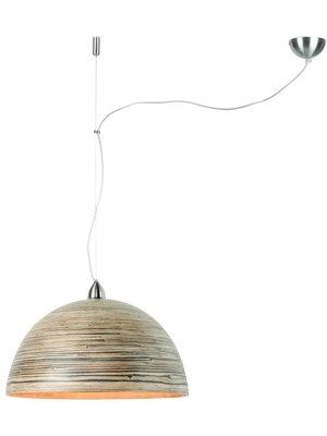 GOOD&MOJO Hanglamp bamboo Halong, 1-shade Hang systeem, donker naturel