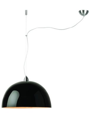 GOOD&MOJO Hanglamp bamboo Halong, 1-shade Hang systeem, zwart