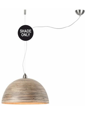 GOOD&MOJO Shade Hanglamp bamboo Halong, donker naturel