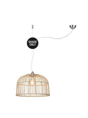 GOOD&MOJO Shade Hanglamp Borneo bamboo rond, naturel, L