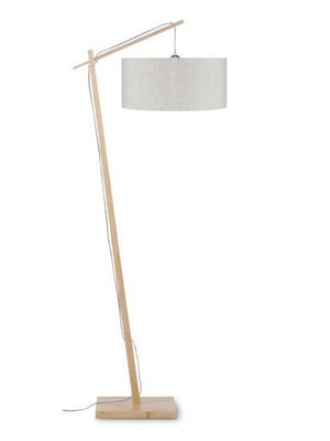 GOOD&MOJO Vloerlamp Andes bamboo, eco linen, licht