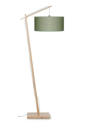 GOOD&MOJO Vloerlamp Andes bamboo, eco linen, green forest