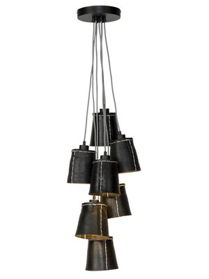 GOOD&MOJO Hanglamp Amazon gerecyclede band/7-shades, zwart, L
