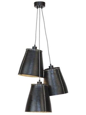 GOOD&MOJO Hanglamp Amazon gerecyclede band/3-shades, zwart, L