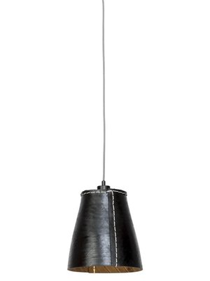 GOOD&MOJO Hanglamp Amazon gerecyclede band/single shade, zwart, L