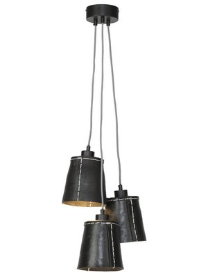 GOOD&MOJO Hanglamp Amazon gerecyclede band/3-shades, zwart, S