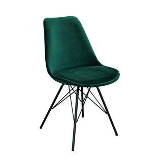 Kick Collection Kuipstoel Velvet - Donker groen