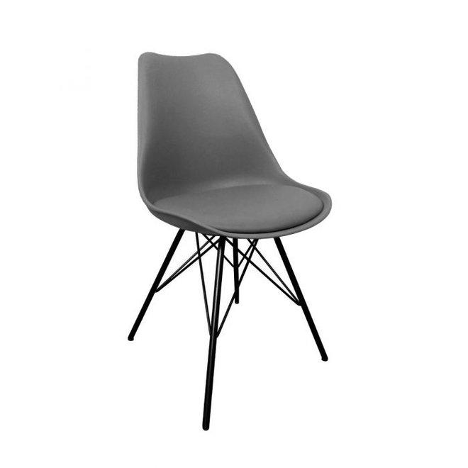 Designstoel Metal Luuk - donker grijs