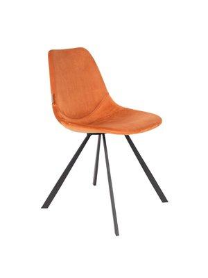 Dutchbone Dutchbone Eetkamerstoel Franky Velvet Orange