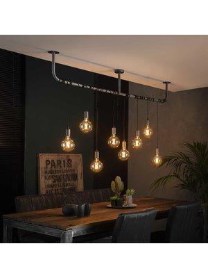 Alaska Hanglamp Wikkel Industrieel, 8-Lamps