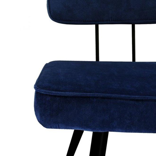 Eetkamerstoel Lot - Donker blauw