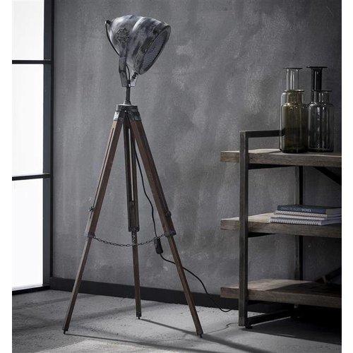 Alaska Showmodel Vloerlamp iron houten statief
