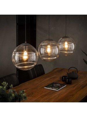 Alaska Hanglamp Glazen Bol, 3-Lampen Ø30cm