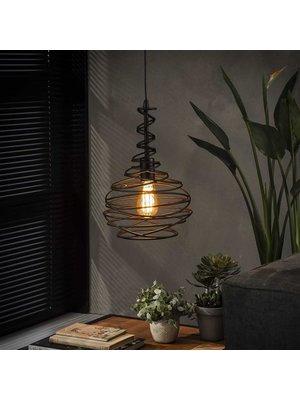 Alaska Hanglamp Zwarte Kegel, 1-Lamp Ø25cm