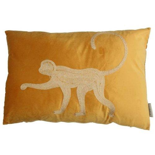 Kussen Monkey Velvet Yellow 40x60cm