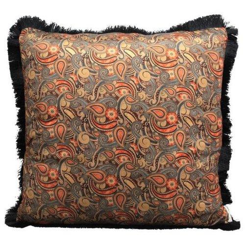 Kussen Paisley Velvet Orange 60x60cm