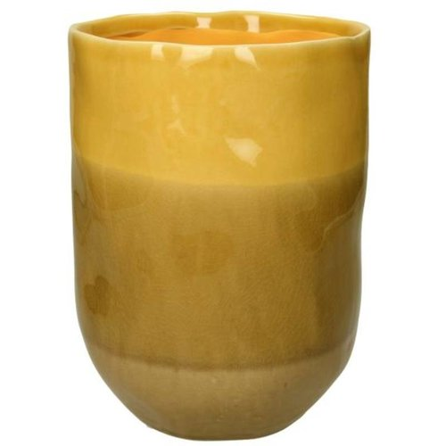 Vaas Stoneware Yellow
