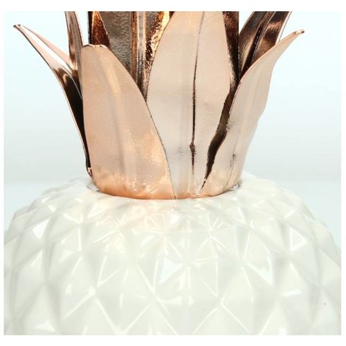 Ornament Pineapple Copper 24x11x11cm