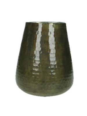 Kaarslicht/Vaas Glass Brown 15x15x17cm