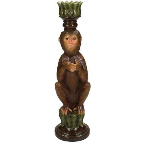 Kandelaar Monkey Brown 26x7x8cm