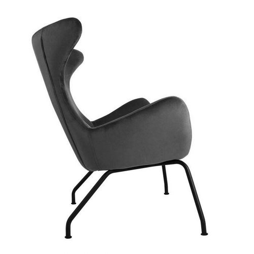Kick Collection Showroommodel Fauteuil velvet Billy - Antraciet